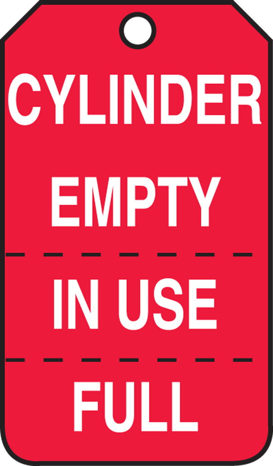 Cylinder Tag - CYLINDER EMPTY - IN USE FULL - PF-Cardstock