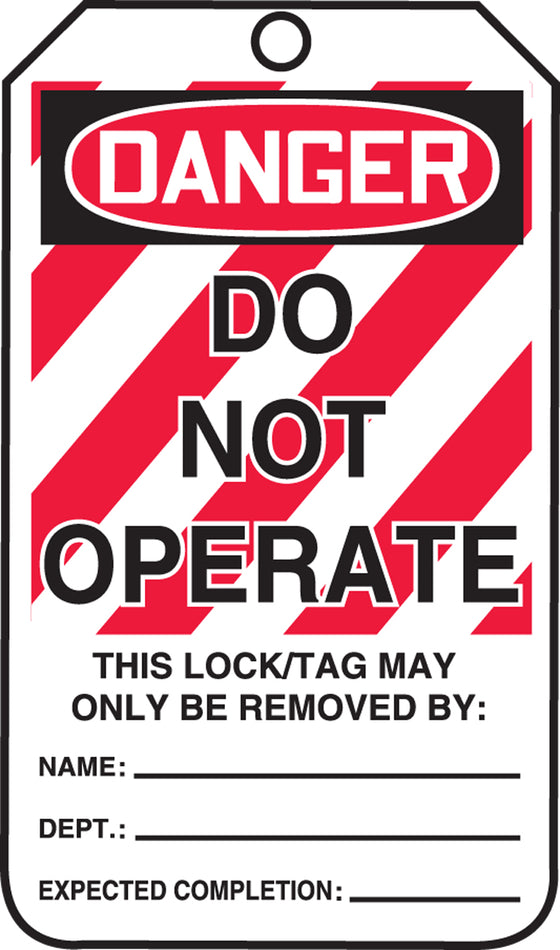 Lockout Tag - DANGER DO NOT OPERATE - PF-Cardstock