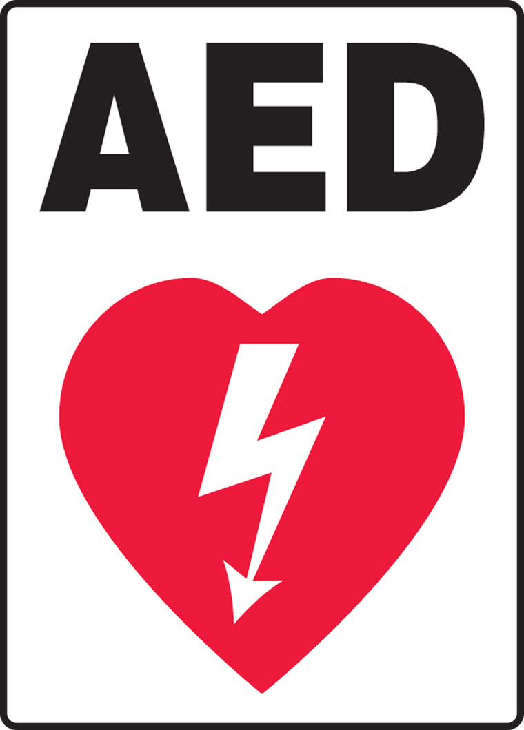 "Safety Sign - AED - 10"" x 7"""