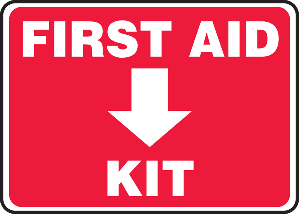 "Safety Sign - FIRST AID KIT - 10"" x 14"""