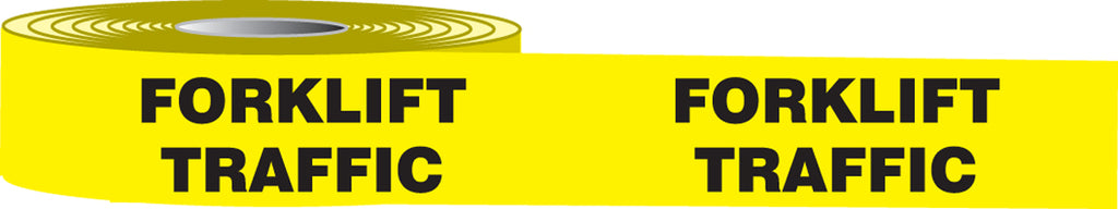 "Slip-Gard™ Floor Message Tapes, Forklift Traffic, 3"" x 50', Black/Yellow - 4"" x 3"""