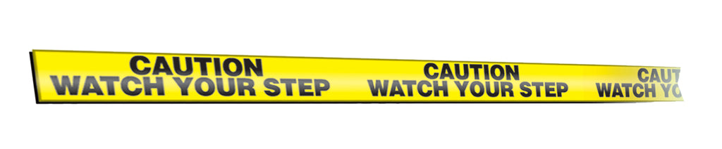 "Message Marking Tape, CAUTION WATCH YOUR STEP, 2"" x 54', Black/Yellow - 2"" x 54'"