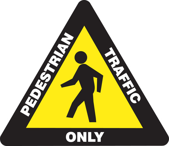 Slip-Gard™ Floor Sign - Pedestrian Traffic Only - Triangle 17""