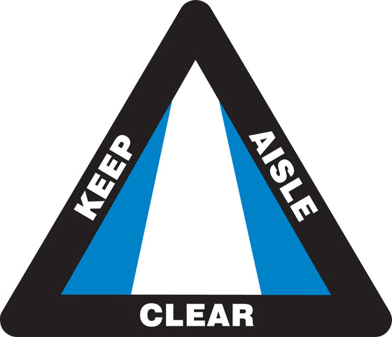 Slip-Gard™ Floor Sign - Keep Aisle Clear - Triangle 17""