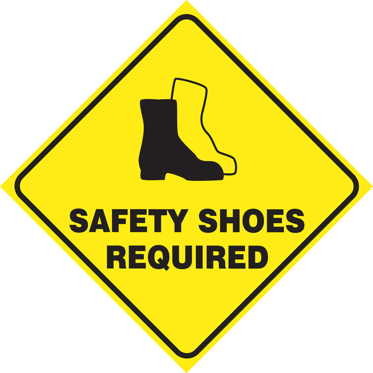 Slip-Gard™ Floor Sign - Safety Shoes Required - Diamond 17""
