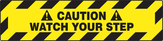 "Slip-Gard™ Floor Sign - Caution Watch Your Step - 6"" x 24"""