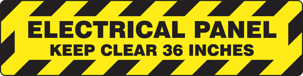 "Slip-Gard™ Floor Sign - Electrical Panel Keep Clear 36 Inches - 6"" x 24"""