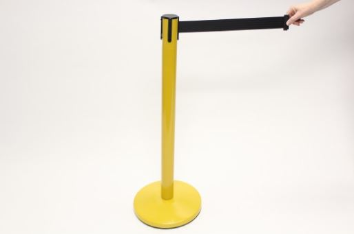 Blockade Retractable Belt Tape Barriers - Yellow