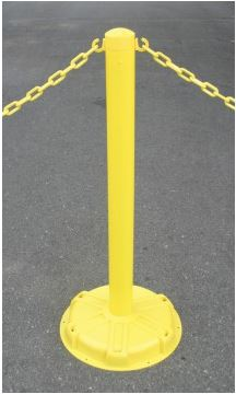 Blockade Stanchion Post - Standard Yellow -