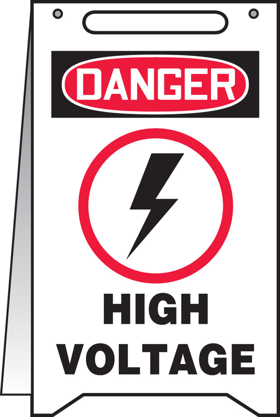 Fold-Ups® Floor Sign - DANGER HIGH VOLTAGE -