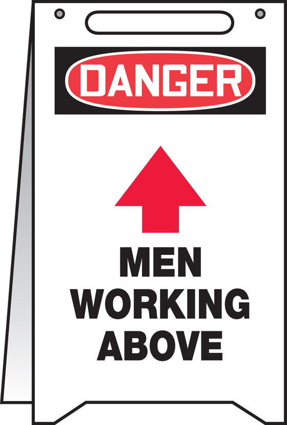 Fold-Ups® Floor Sign - DANGER MEN WORKING ABOVE -