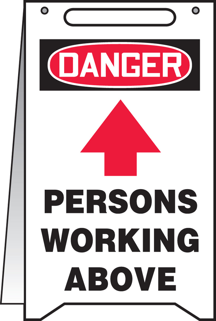 Fold-Ups® Floor Sign - DANGER PERSONS WORKING ABOVE -