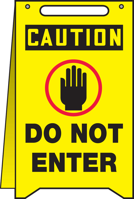 Fold-Ups® Floor Sign - CAUTION DO NOT ENTER -