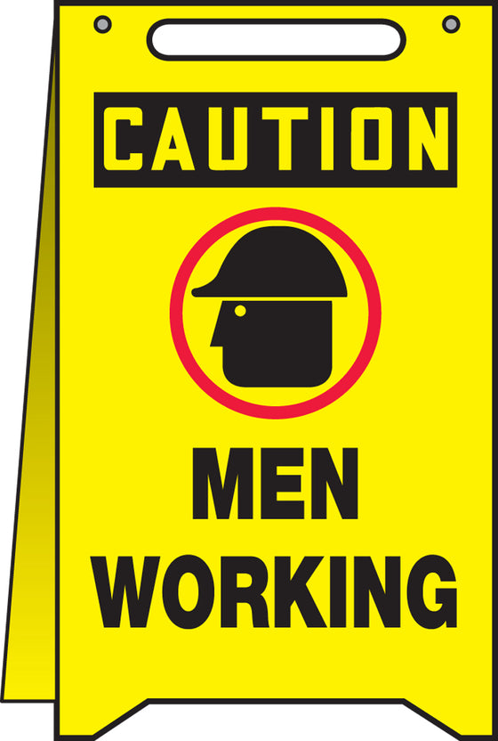 Fold-Ups® Floor Sign - CAUTION MEN WORKING -