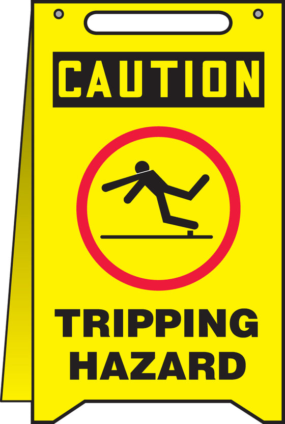 Fold-Ups® Floor Sign - CAUTION TRIPPING HAZARD -