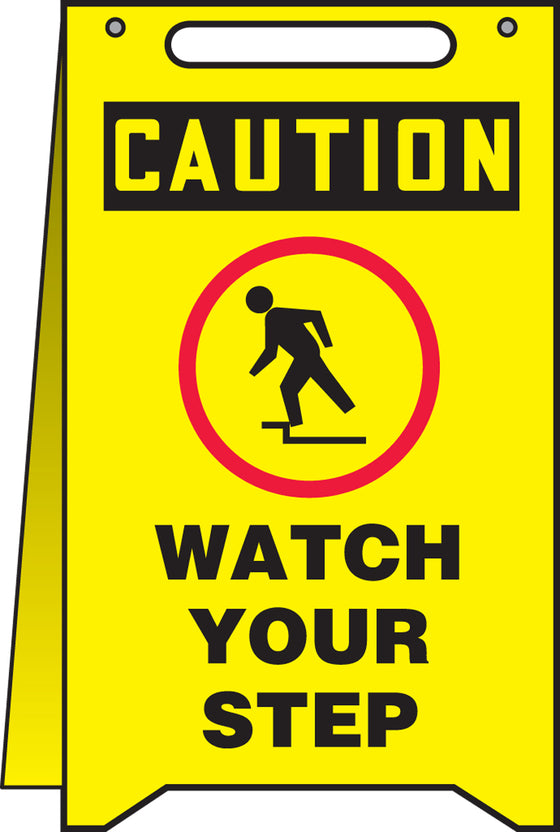 Fold-Ups® Floor Sign - CAUTION WATCH YOUR STEP -