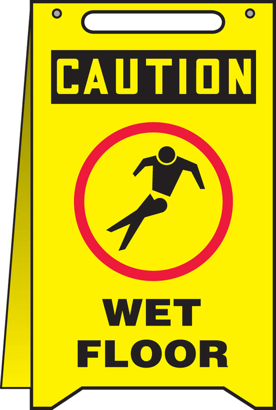Fold-Ups® Floor Sign - CAUTION WET FLOOR -