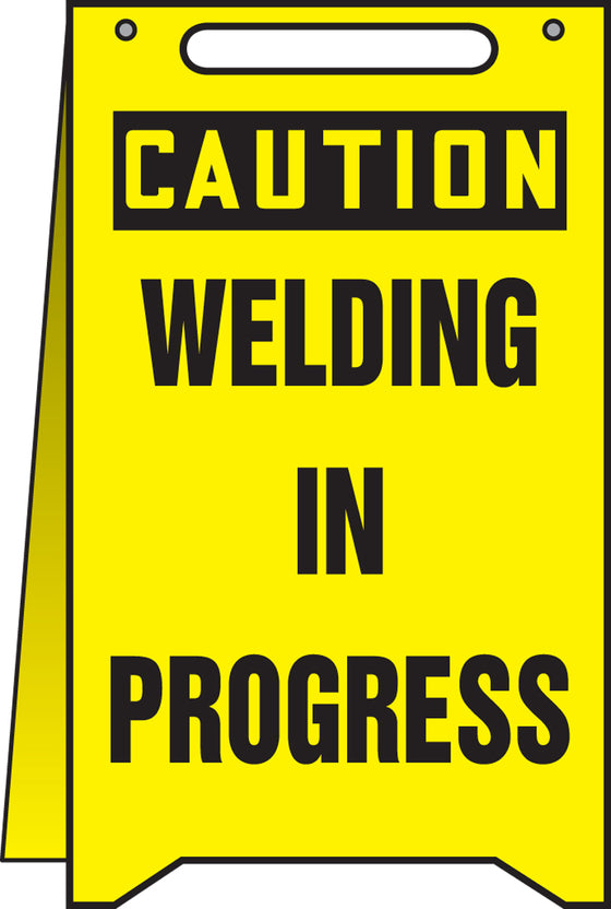 Fold-Ups® Floor Sign - CAUTION WELDING IN PROGRESS -