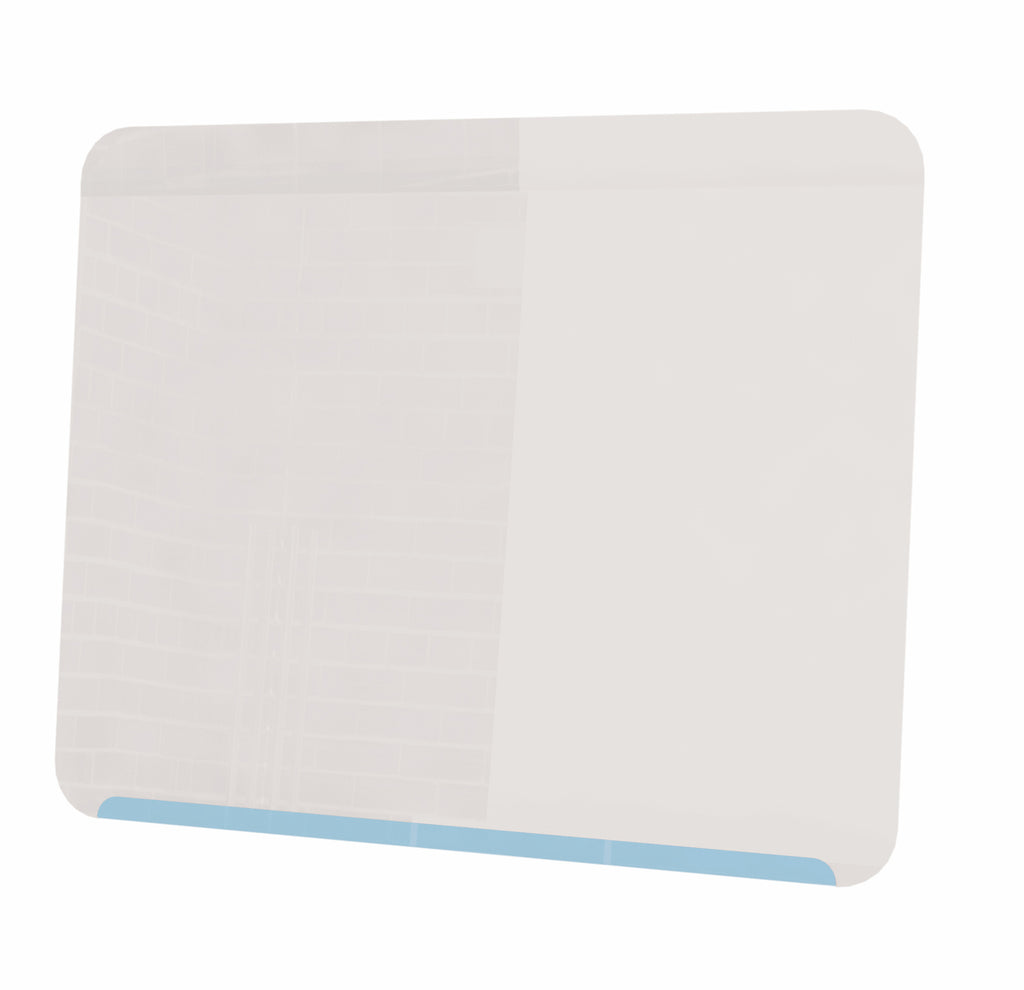 "Ghent Link Board Magnetic Whiteboard - Soft Blue Base/White Face - 24"" H x 30"" W"