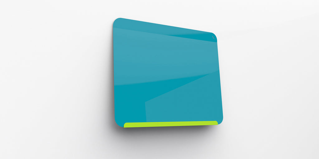 "Ghent Link Board Magnetic Whiteboard - Lime Green Base/Bright Blue Face - 24"" H x 30"" W"