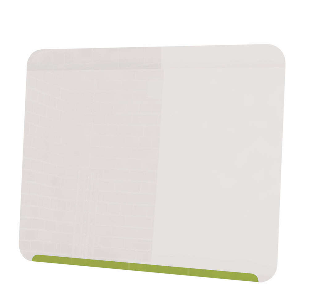 "Ghent Link Board Magnetic Whiteboard - Lime Green Base/White Face - 24"" H x 30"" W"