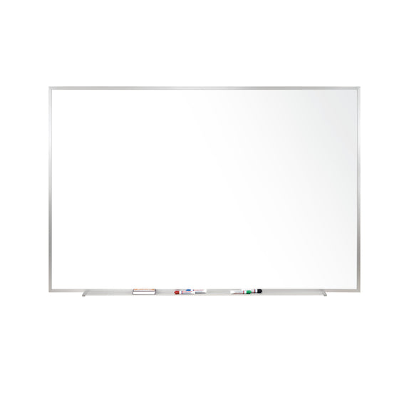 Ghent Magnetic Porcelain Whiteboard with Aluminum Frame - 2' H x 3' W