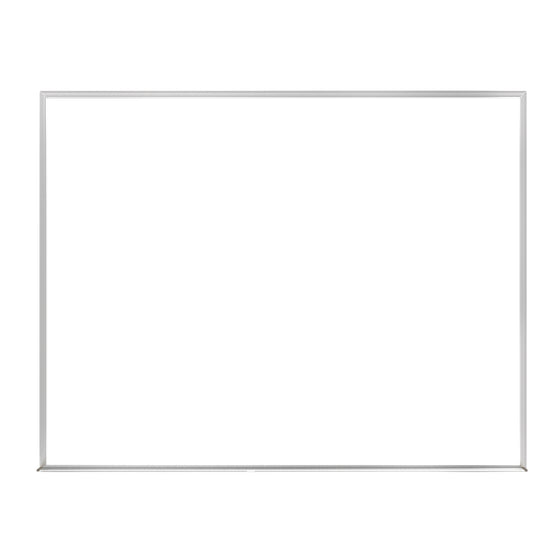 "Ghent Non-Magnetic Whiteboard with Aluminum Frame - 18"" H x 24"" W"