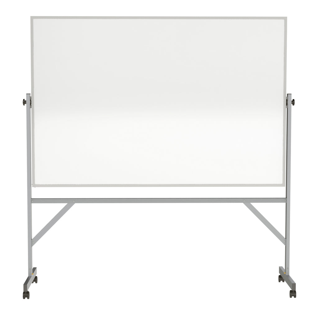 Ghent Reversible Whiteboard with Aluminum Frame - 4' H x 6' W