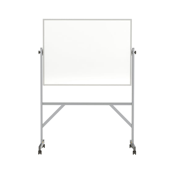 Ghent Reversible Magnetic Porcelain Whiteboard with Aluminum Frame - 3' H x 4' W