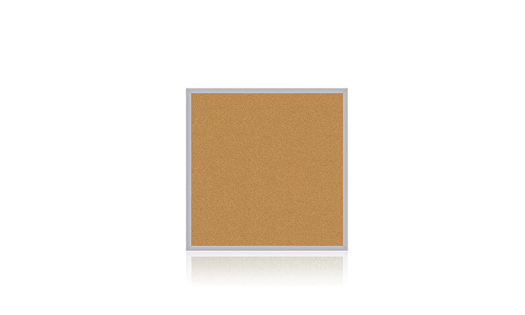 Ghent Natural Cork Bulletin Board with Aluminum Frame - 4' H x 4' W