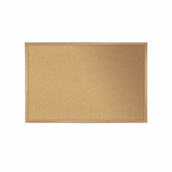"Ghent Natural Cork Bulletin Board with Wood Frame - 18"" H x 24"" W"