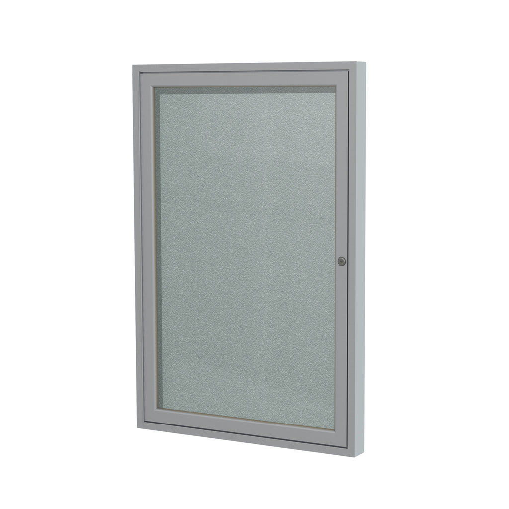 "Ghent Enclosed Vinyl Bulletin Board with Satin Frame - 36"" H x 30"" W"