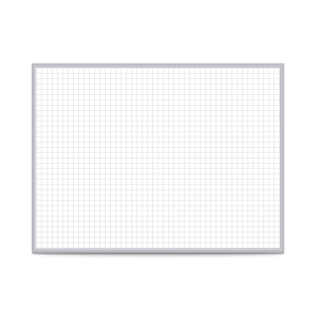 "Ghent 1""x1"" Grid Magnetic Whiteboard - 3' H x 4' W"