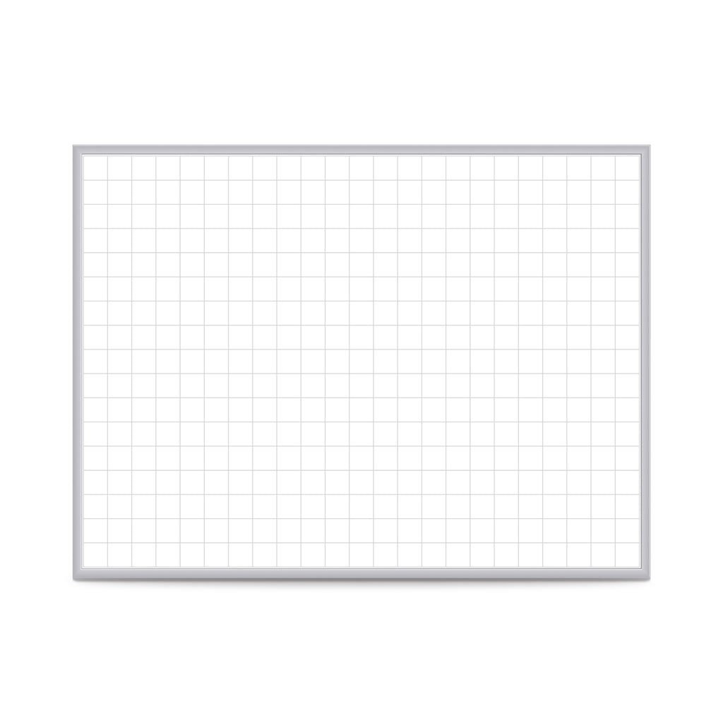 "Ghent 2""x2"" Grid Magnetic Whiteboard - 3' H x 4' W"