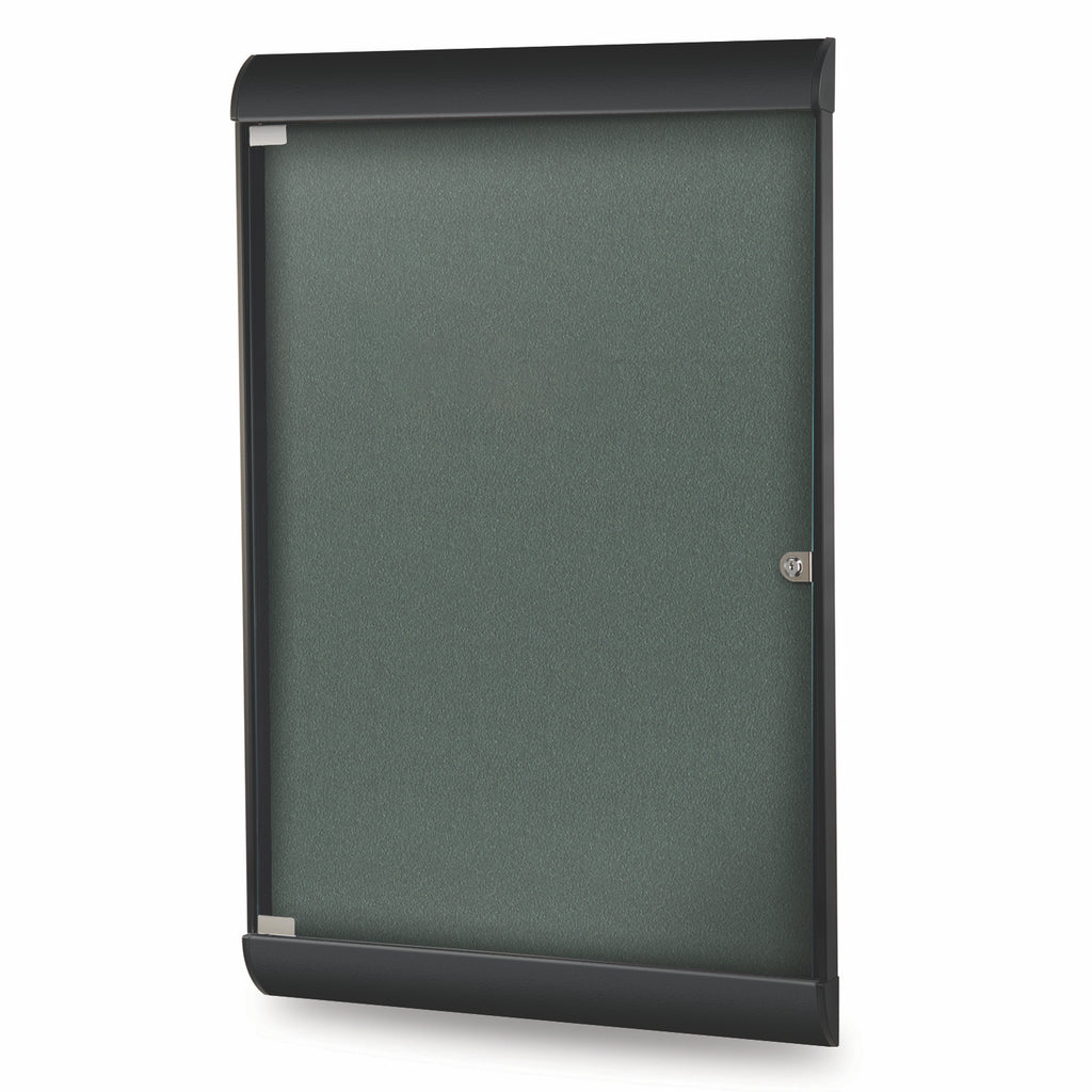 Ghent Silhouette Enclosed Vinyl Bulletin Board - 4' H x 2' W