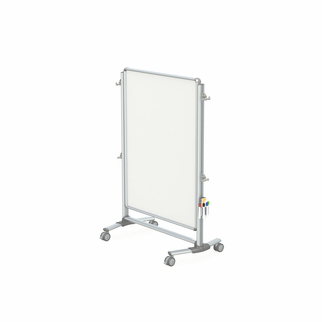 Ghent Nexus Jr. Partition, Mobile 2-Sided Porcelain Magnetic Whiteboard