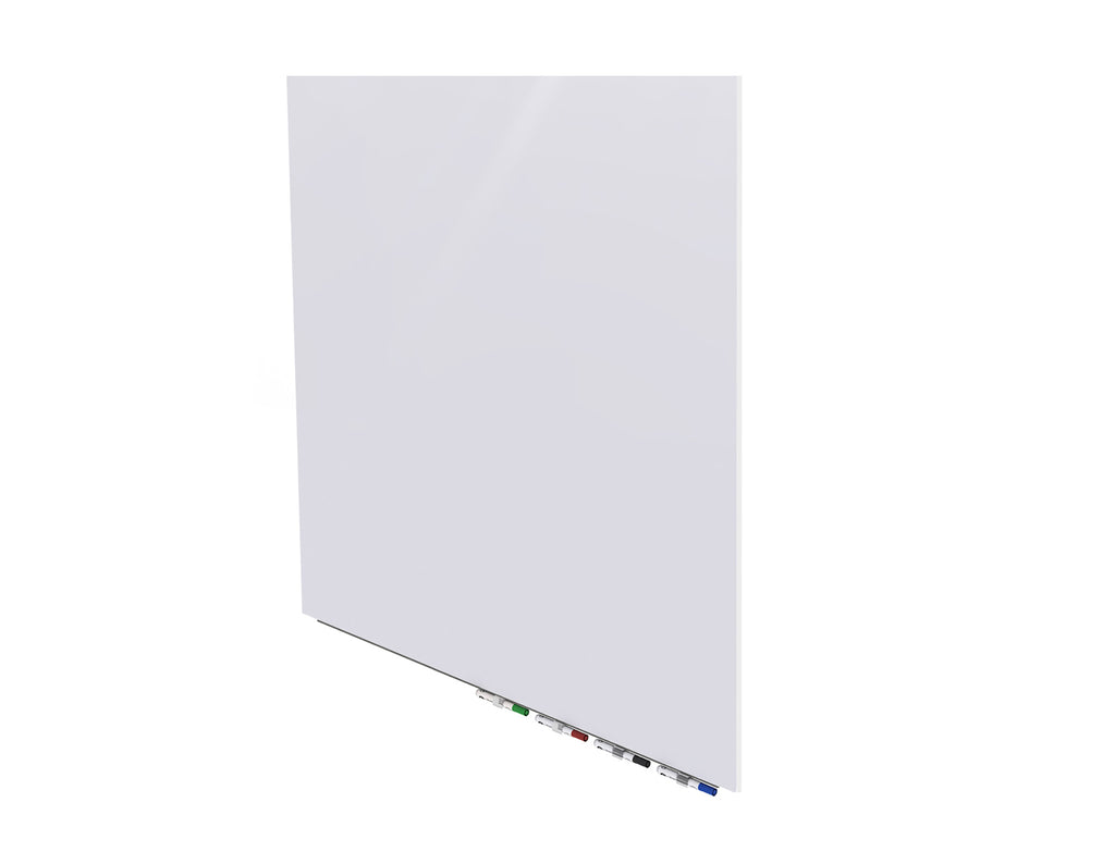 Ghent Aria Low Profile Glass Whiteboard - 4' H x 4' W