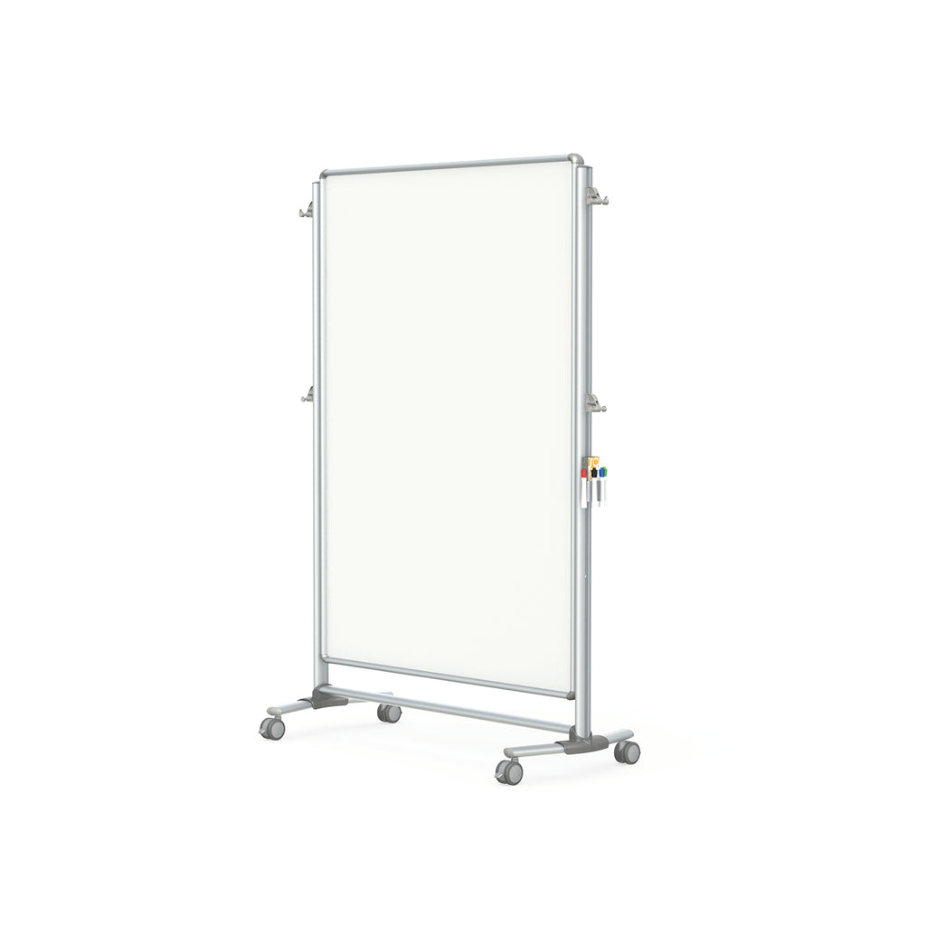 Ghent Nexus Partition, Mobile 2-Sided Porcelain Magnetic Whiteboard