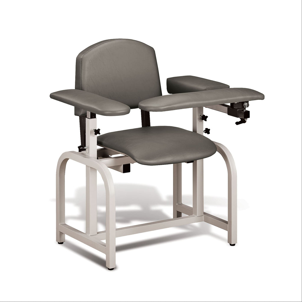 Lab X Padded Phlebotomy Blood Draw Chair Warm Gray