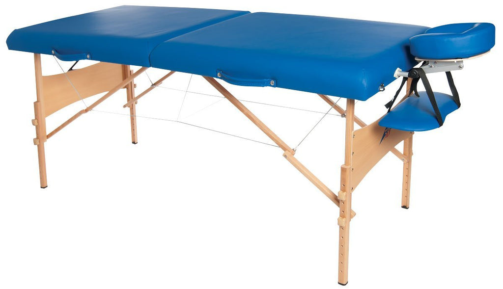 Deluxe Portable Massage Table - Blue