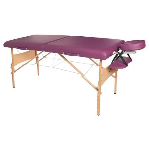 Deluxe Portable Massage Table - Burgundy
