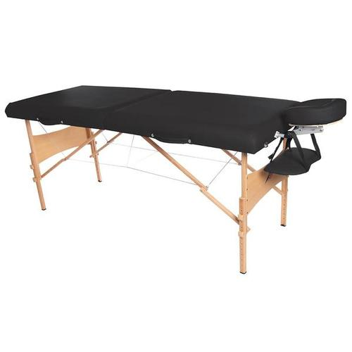 Deluxe Portable Massage Table - Black