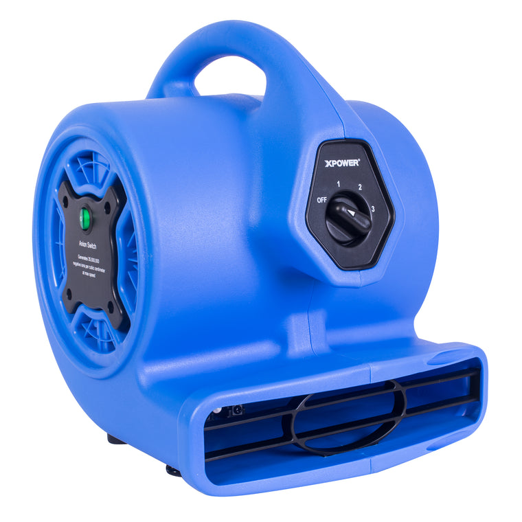 XPOWER Freshen Aire 1/8 HP 3 Speed Scented Mini Mighty Air Mover with Ionizer