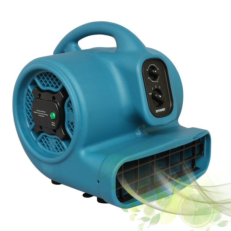 XPOWER Freshen Aire 1/3 HP 3 Speeds Scented Air Mover with Ionizer and Timer