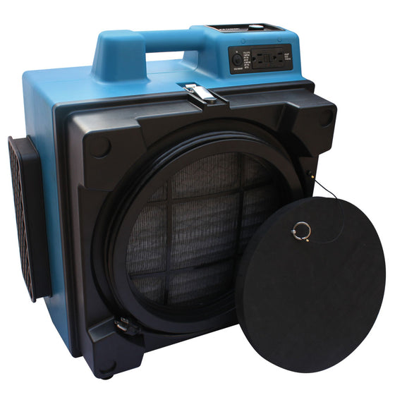 XPOWER Professional 3 Stage Filtration HEPA Purifier System Air Scrubber with Built-in GFCI Power Outlets