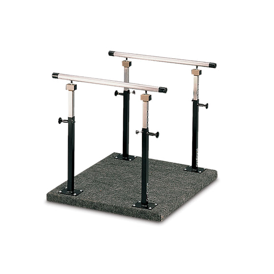 "CanDo Balance Platform with Adjustable Handrails - 3'x 3' x 26-39""H"
