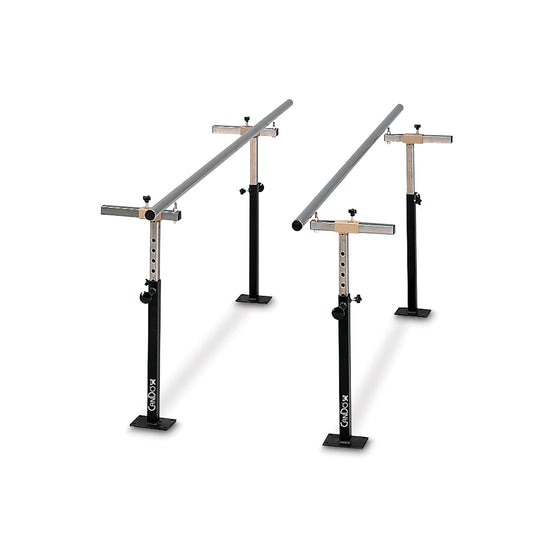 CanDo Floor Mounted Parallel Bars Height and Width Adjustable - 7'