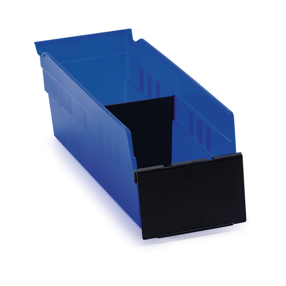 Akro-Mils 30120 Blue Shelf Bin Bundle with Dividers and Label Holders