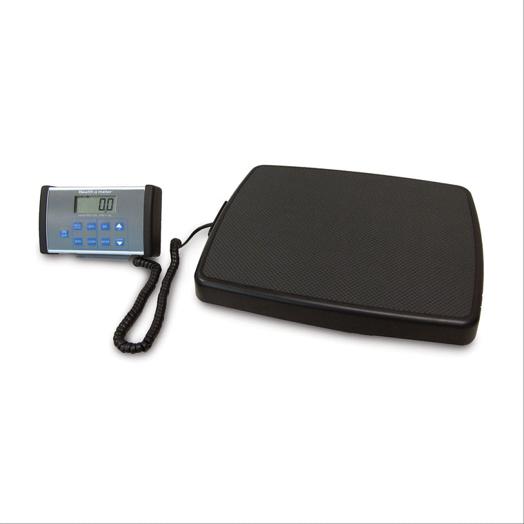 Health o meter 498KL Professional 500lb Capacity Digital Floor Scale with Remote Display