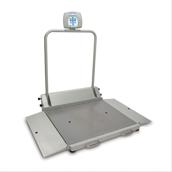 Health o meter 2610KL Digital Wheelchair Scale - Portable/Folding with 2 Ramps